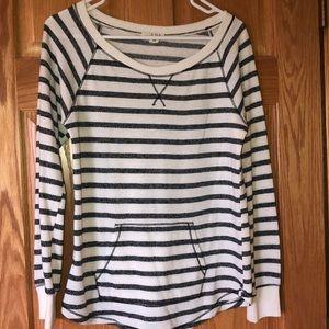 Black and white striped shirt, size medium